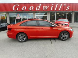 Used 2019 Volkswagen Jetta R-LINE! CLEAN CARFAX! HEATED LEATHER! BLIND SPOT! for sale in Aylmer, ON