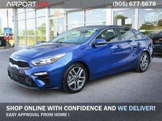 Used 2019 Kia Forte EX Premium Demo. /Smart cruise control/ smart push start key/Leather/Sunroof/Android Auto and Apple Car Play/Sunroof/UVO Intelligence (w/ Satellite Radio) for sale in Mississauga, ON