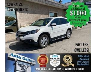 Used 2013 Honda CR-V EX* Awd/Roof/B.cam/B.tooth for sale in Winnipeg, MB