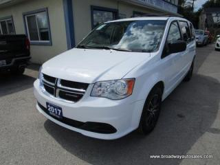 Used 2017 Dodge Grand Caravan FAMILY MOVING SE EDITION 7 PASSENGER 3.6L - DOHC.. CAPTAINS.. FULL STOW-N-GO.. ECON-PACKAGE.. BLUETOOTH SYSTEM.. REAR CLIMATE CONTROLS.. for sale in Bradford, ON