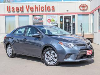 Used 2016 Toyota Corolla LE H-SEATS CAMERA BLUETOOTH AUX NOT A RENTAL! for sale in North York, ON