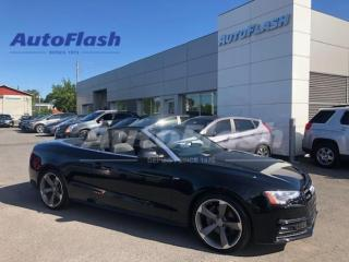 Used 2014 Audi A5 TECHNIK *CONVERTIBLE/DECAPOTABLE *GPS *CAMERA *B&O for sale in St-Hubert, QC