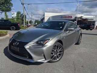 Used 2018 Lexus RC 350 AWD 6A for sale in Surrey, BC