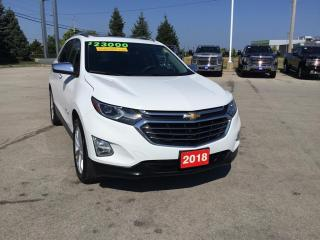 Used 2018 Chevrolet Equinox Premier All Wheel Drive - Leather for sale in Grimsby, ON