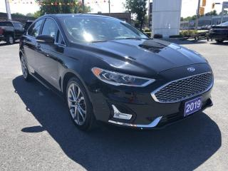 Used 2019 Ford Fusion Hybrid Titanium Nav Leather Moonroof for sale in Cornwall, ON