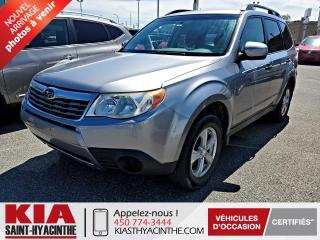 Used 2010 Subaru Forester 2.5X AWD ** GR ÉLECTRIQUE + A/C for sale in St-Hyacinthe, QC