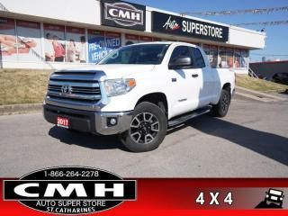 Used 2017 Toyota Tundra SR5 Plus Package  4X4 5.7L CAM BT HS P/SEATS for sale in St. Catharines, ON