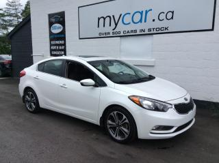 Used 2016 Kia Forte 2.0L EX SUNROOF, UPGRADED ALLOYS, HEATED SEATS, BACKUP CAM for sale in Kingston, ON