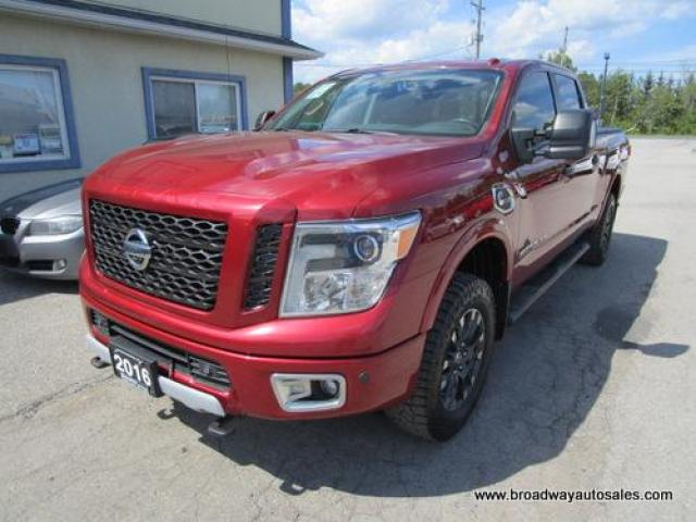 "2016 Nissan Titan XD LOADED PRO-4X EDITION 5 PASSENGER 5.0L - CUMMINS DIESEL.. 4X4.. CREW-CAB.. 6.6"" BOX.. NAVIGATION.. LEATHER.. HEATED/AC SEATS.. BACK-UP CAMERA.."