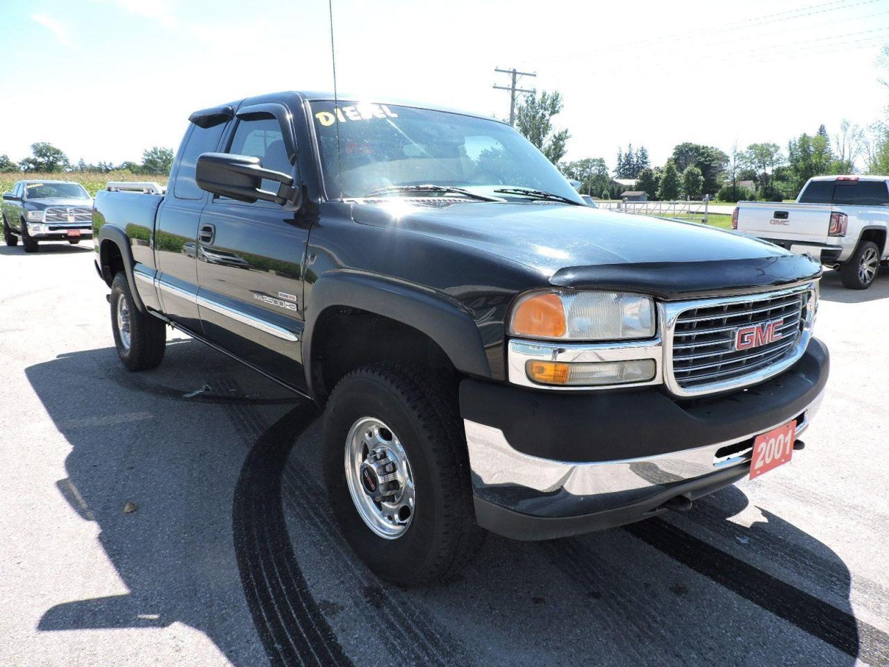 used 2001 gmc sierra 2500 sle diesel 2 wheel drive no rust for sale in gorrie, ontario carpages.ca
