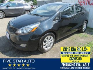 Used 2013 Kia Rio LX+ *Clean Carfax* Certified w/ 6 Month Warranty for sale in Brantford, ON