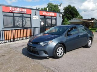 Used 2015 Toyota Corolla LE ECO Upgrade Pkg|BACKUP CAMERA|BLUETOOTH|AUX/USB for sale in St. Thomas, ON