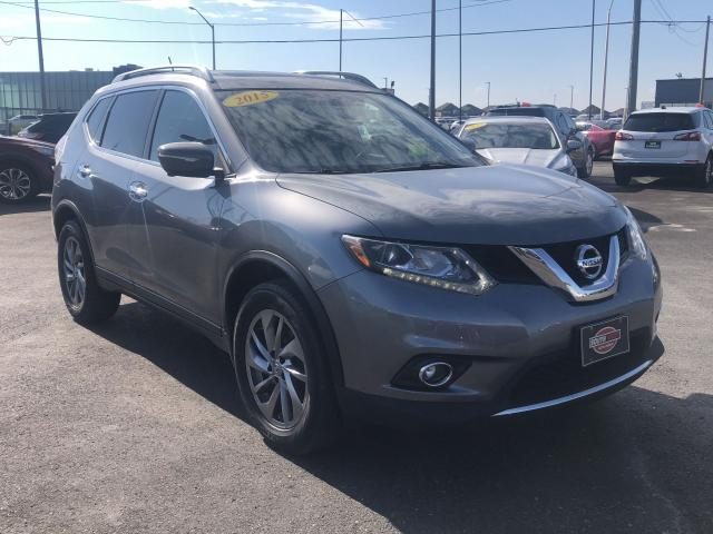 2015 Nissan Rogue SL*AWD*PANO ROOF*LEATHER*NAV*LOADED