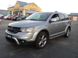 Used 2016 Dodge Journey Crossroad 3.6L AWD LeatherRoof BackUpCam 7 Pass for sale in Brantford, ON