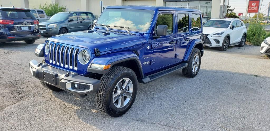 used 2019 jeep wrangler unlimited sahara 4x4 for sale in north york, ontario carpages.ca