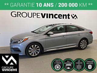 Used 2015 Hyundai Sonata SPORT TOIT PANORAMIQUE ** GARANTIE 10 ANS ** Économique et pratique! for sale in Shawinigan, QC