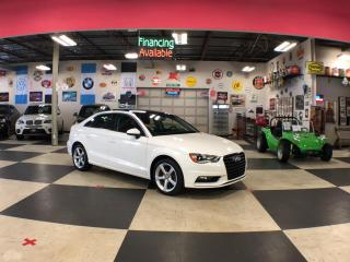 Used 2016 Audi A3 1.8T KOMFORT AUT0 LEATHER PANO/ROOF BACKUP CAMERA 61K for sale in North York, ON