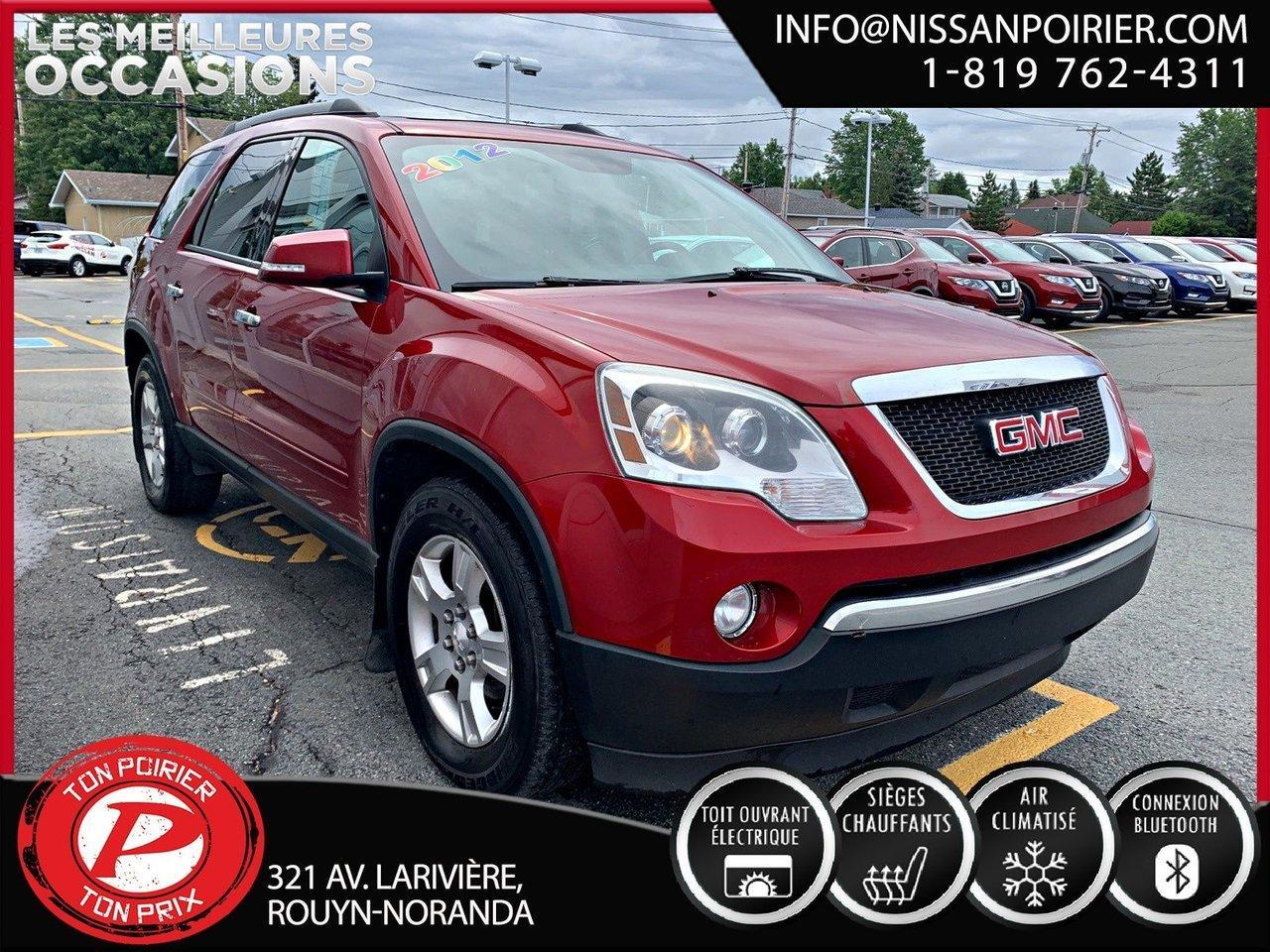used 2012 gmc acadia sle2 for sale in rouyn-noranda, quebec carpages.ca