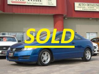 Used 2011 Honda Civic Cpe DX-G **SOLD** for sale in West Saint Paul, MB
