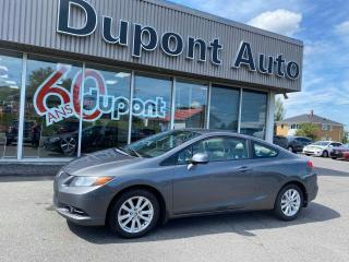 Used 2012 Honda Civic 2 portes, boîte automatique EX for sale in Alma, QC
