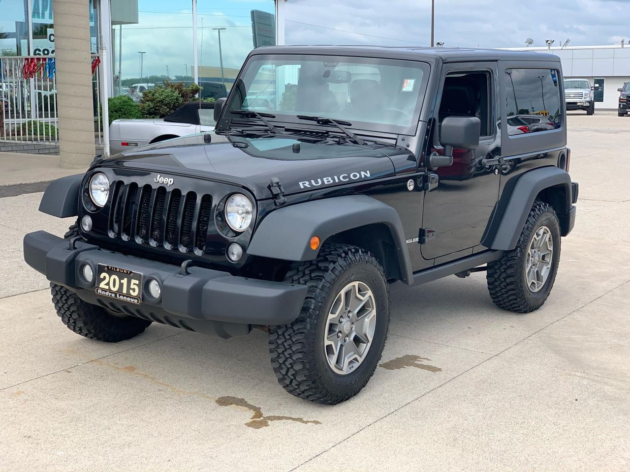 used 2015 jeep wrangler rubicon 2 tops for sale in tilbury, ontario carpages.ca