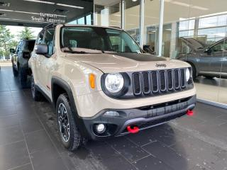Used 2016 Jeep Renegade TRAILHAWK 4WD, ONE OWNER, BEATS SOUND SYSTEM, NAVI, POWER HEATED LEATHER SEATS for sale in Edmonton, AB