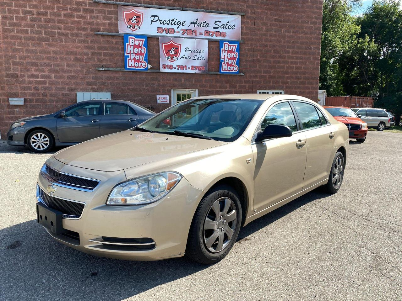 used 2008 chevrolet malibu ls 2.4l low kms no accident safety warranty includ for sale in cambridge, ontario carpages.ca