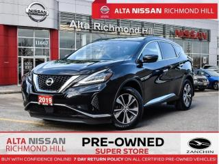 Used 2019 Nissan Murano SV AWD   Pano   Remote Start   Apple Carplay for sale in Richmond Hill, ON