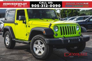Used 2016 Jeep Wrangler SPORT S | DUAL TOPS | LOW KM'S | for sale in Hamilton, ON