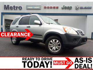 Used 2006 Honda CR-V All Wheel Drive EX As-Is for sale in Ottawa, ON