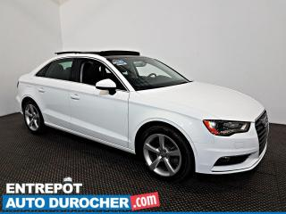 Used 2016 Audi A3 2.0T Komfort AWD TOIT OUVRANT - A/C - Cuir for sale in Laval, QC