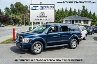 Used 2006 Dodge Durango 4WD SLT V8, Local, No Declarations, DVD, 3rd Row Seating! for sale in Surrey, BC