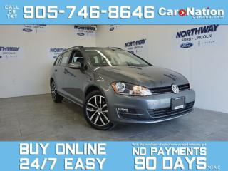 Used 2016 Volkswagen Golf Sportwagen PANO ROOF | LEATHER | NAV | WAGON | ONLY 42 KM! for sale in Brantford, ON