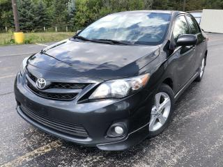 Used 2013 Toyota Corolla S 2WD for sale in Cayuga, ON