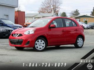 Used 2017 Nissan Micra SV + BLUETOOTH + CLIMATISEUR + BAS KILO for sale in Magog, QC