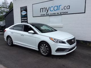 Used 2016 Hyundai Sonata Sport Tech SUNROOF, NAV, PWR HEATED SEATS, ALLOYS, BACKUP CAM for sale in Richmond, ON