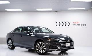 New 2020 Audi A4 Sedan Komfort for sale in Winnipeg, MB