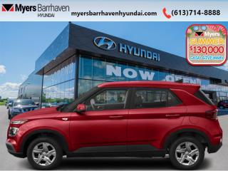 New 2020 Hyundai Venue Essential IVT  - Android Auto - $116 B/W for sale in Nepean, ON
