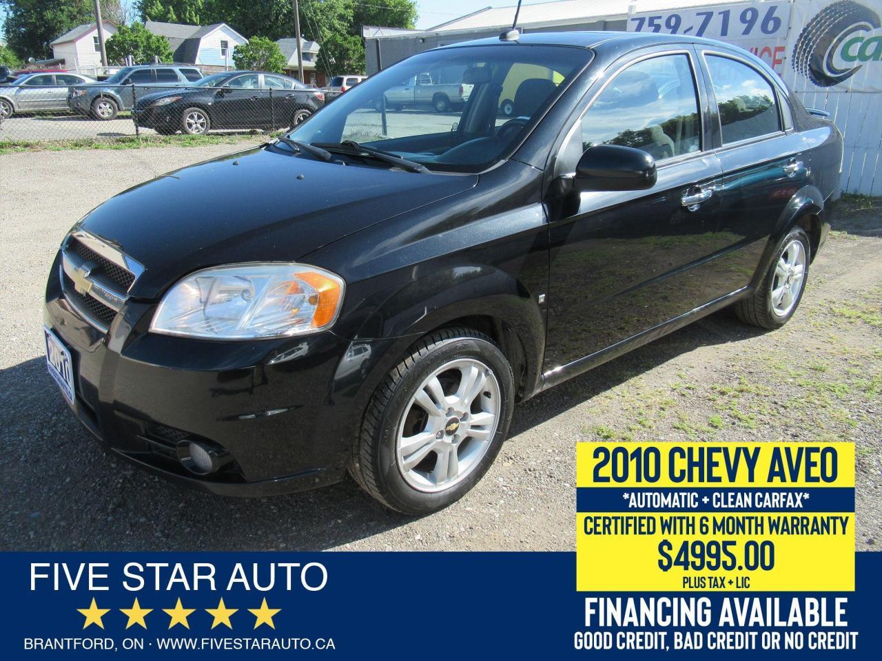 2010 Chevrolet Aveo LT *Clean Carfax* Certified w/ 6 Month Warranty