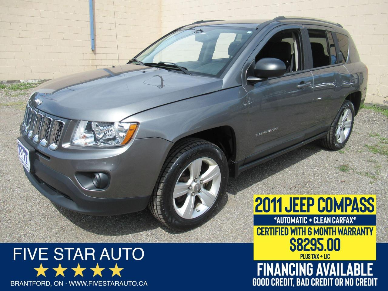 2011 Jeep Compass North Edition *Clean Carfax* Certified w/ Warranty