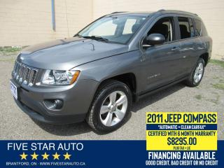 Used 2011 Jeep Compass North Edition *Clean Carfax* Certified w/ Warranty for sale in Brantford, ON