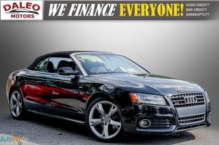 Used 2012 Audi A5 2.0L PREMIUM / CONVERTIBLE / LEATHER / CLEAN for sale in Hamilton, ON