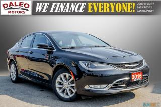Used 2016 Chrysler 200 C /  LEATHER / HEATED & COOLED SEATS / BACK UP CAM for sale in Hamilton, ON