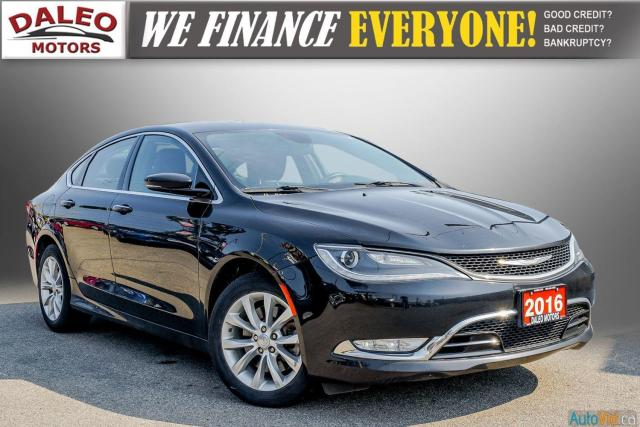 2016 Chrysler 200 C /  LEATHER / HEATED & COOLED SEATS / BACK UP CAM