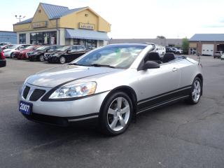 Used 2007 Pontiac G6 GT HardTopConvertible LeatherHeatedRemoteStart3.9L for sale in Brantford, ON