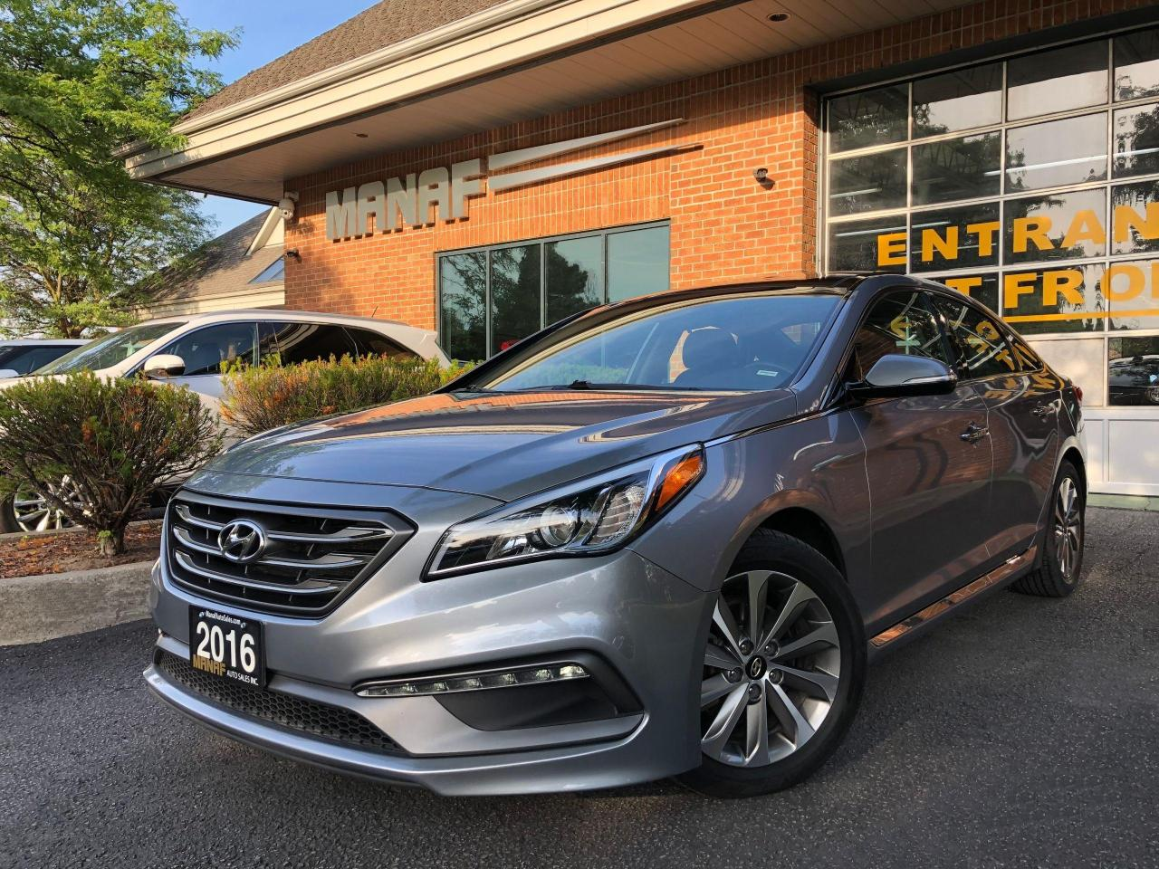used 2016 hyundai sonata 2.4l sport tech navi panoramic sunroof r.cam cert for sale in concord, ontario carpages.ca