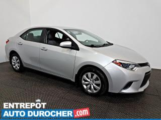 Used 2016 Toyota Corolla LE AIR CLIMATISÉ - Caméra de Recul for sale in Laval, QC