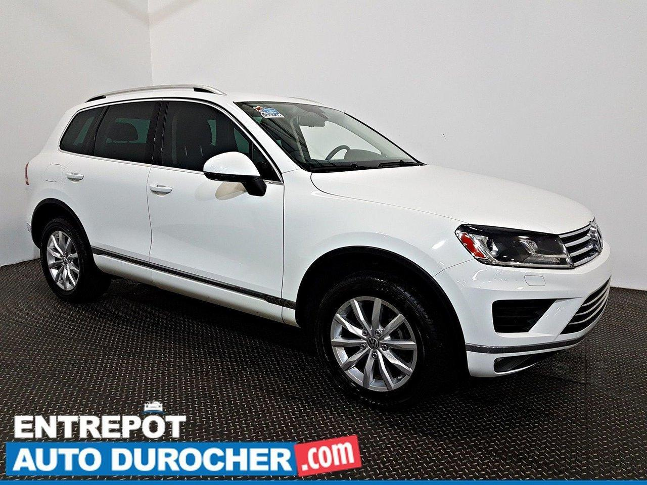 used 2016 volkswagen touareg awd navigation - a c - caméra de recul - cuir for sale in laval, quebec carpages.ca