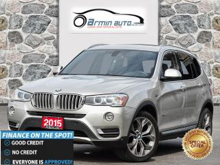 Used 2015 BMW X3 xDrive28d DIESEL| NAV | PANO ROOF | LED | HK AUDIO for sale in Etobicoke, ON