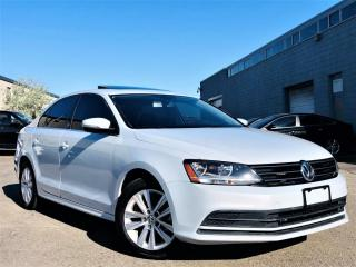 Used 2017 Volkswagen Jetta Sedan WOLFSBURG EDITION|SUNROOF|REAR VIEW CAM|HEATED SEATS! for sale in Brampton, ON